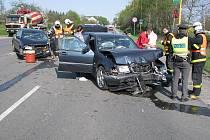Nehoda v Horní Suché.