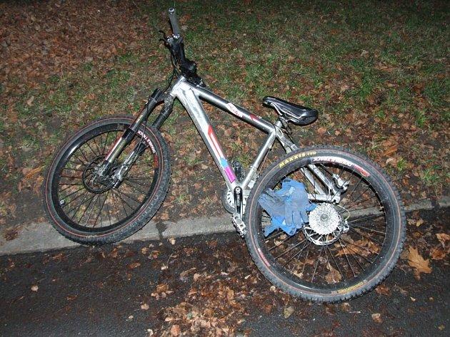 Horské kolo cyklisty, který havaroval v Havířově