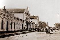 Bohumínské nádraží před sto lety v roce 1909.