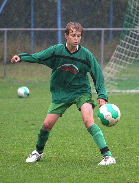 Mládežnické celky fotbalové Karviné (na snímku Adam Leibl) se o víkendu činily.