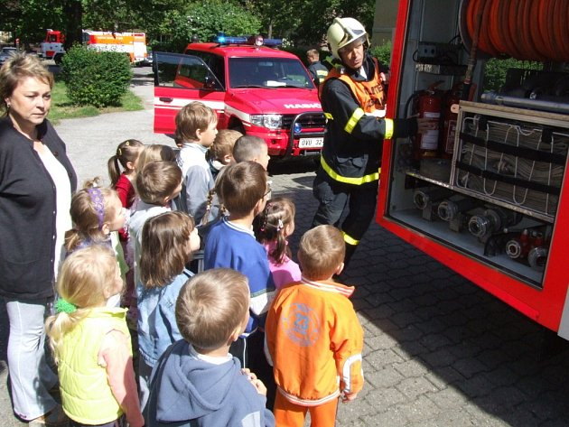 Požární cvičení v havířovské Mateřské škole Radniční