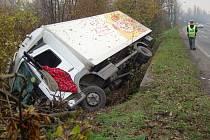 Nehoda nákladního vozu v Karviné