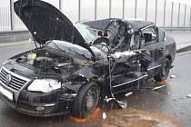 Nehoda na dálnici u Bohumína