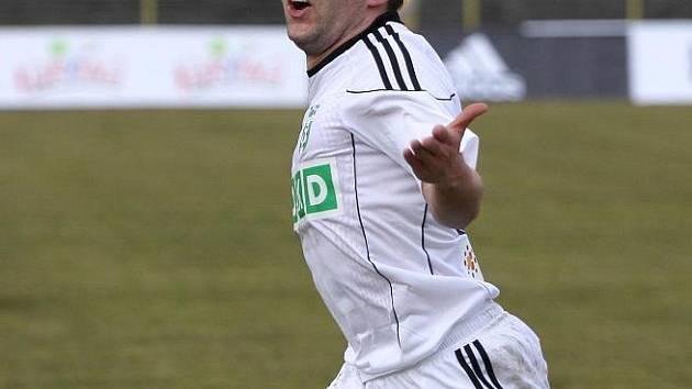 Radost Vladana Milosavljeva v utkání Karviné s Čáslaví byla pro domácí jedinou.