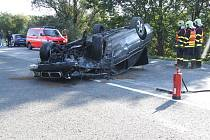 Nehoda několika vozů na Ostravské ulici v Šenově
