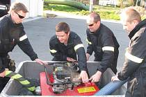 Havířovští dobrovolní hasiči při pravidelném odborném výcviku