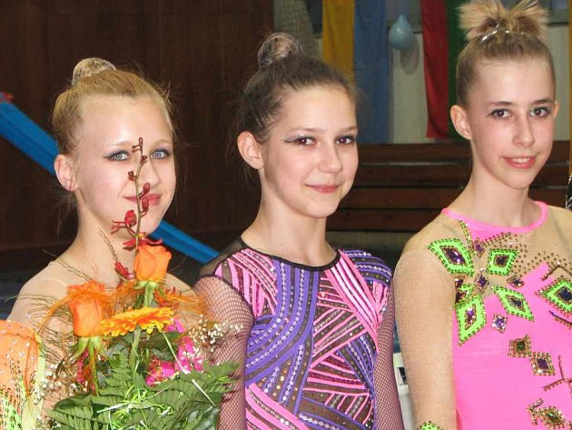 Havířovské juniorky Žaneta Korbelová, Markéta Solčanská a Kristýna Janečková (zleva) se na mistrovství republiky neprosadily.