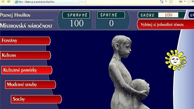 Hra na internetu umožní lidem zdokonalit si vědomosti o Havířovu.