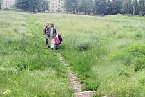 Dnes je hřiště za ubytovnou Předvoj zpustlé a zarostlé trávou.