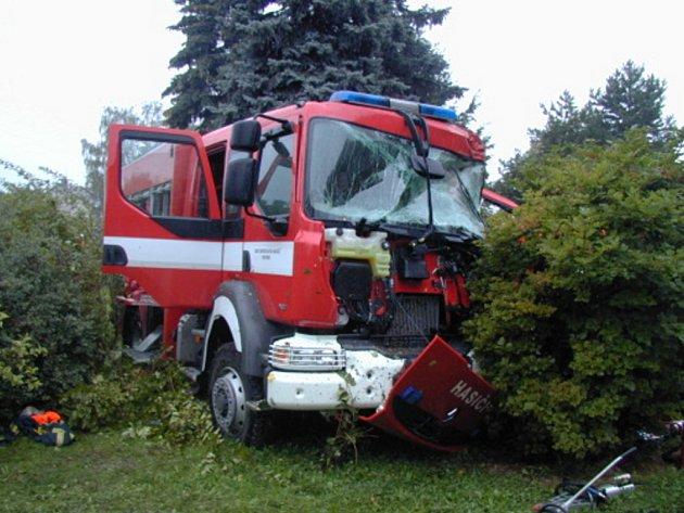 Nehoda dobrovolných hasičů ve Vratimově
