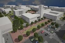 Vizualizace možné podoby náměstí v Orlové