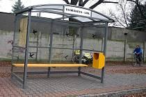 Nová čekárna na autobusové zastávce