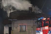 Požár domu v Orlové