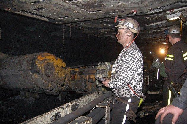 V podzemí černouhelné šachty