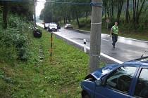 Kolize dvou automobilů v Těrlicku