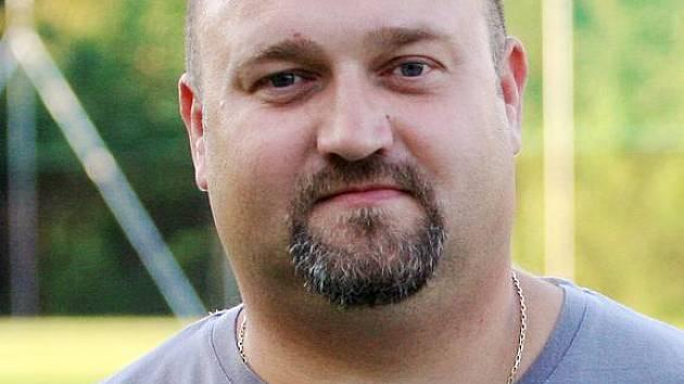 Trenér fotbalové Doubravy Martin Czaja.