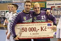 Lubomír Drápal a Jakub Lefan - skvělá brankářská dvojička.