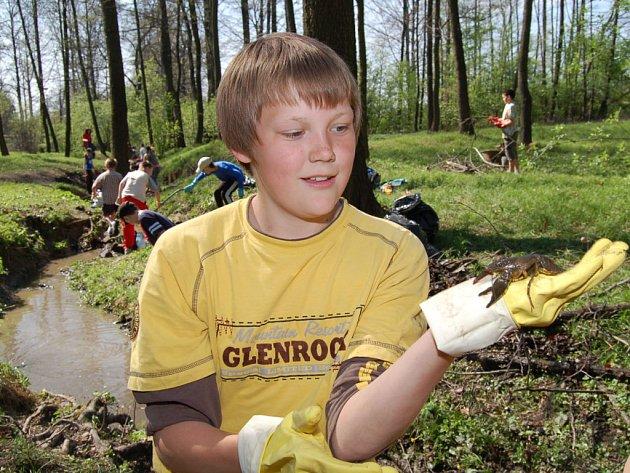 Stejně jako v minulých letech budou karvinští školáci čistit lesopark Dubinu. Možná opět najdou v potoce raky.