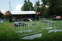 Příprava karvinského hudebního festivalu Dokořán