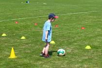 Nábor malých fotbalistů.