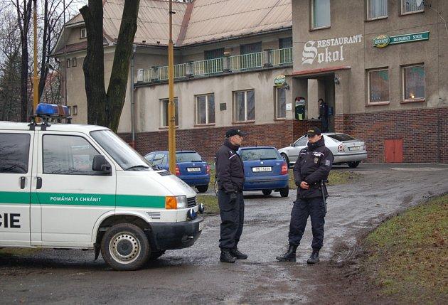 Restaurace Sokol v Petřvaldě, kde řádil vražedný střelec