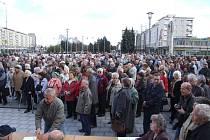 Důchodci protestovali proti reformě.
