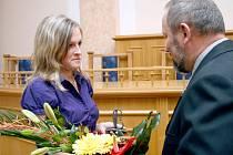 Oceněna byla i Kateřina Molnárová, která se věnuje práci se seniory v domovech důchodců.