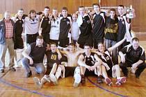 Mladí muži karvinského Sokola - basketbaloví mistři republiky ve své kategorii U 20.
