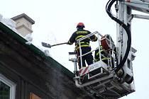 Led a sníh hasiči shazují jen v případě akutního ohrožení