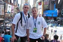Úspěšní policisté na hrách v New Yorku.