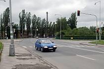 Křižovatka u dopravního inspektorátu