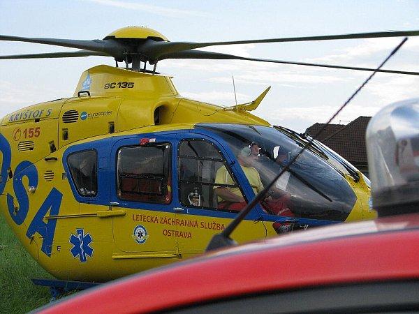Záchranářský vrtulník Eurocopter 135.Ilustrační fotografie