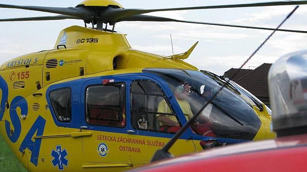 Záchranářský vrtulník Eurocopter 135. Ilustrační fotografie