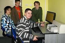 Vítězný tým školáků ze Základní školy Gorkého.