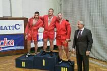 Na snímku sambista Stanislav Loucký, jenž vyválčil třetí místo v Bratislavě v nabité kategorii combat sambo, a to v konkurenci výborných Rusů.