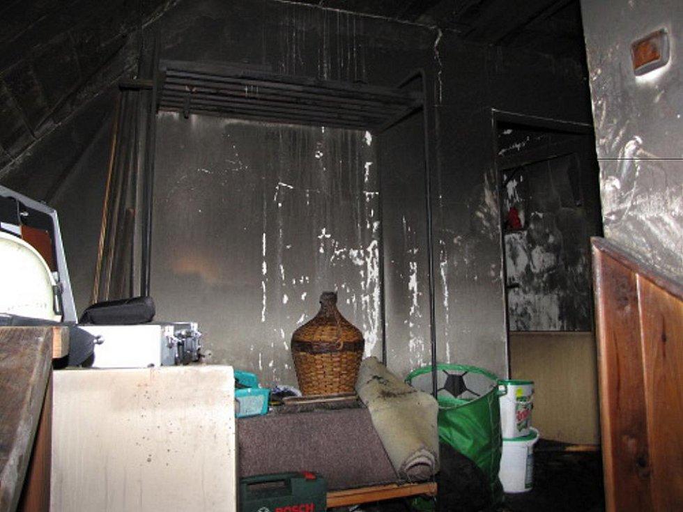Požár domu v Bohumíně