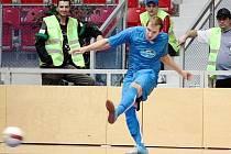 Futsalisté Havířova (v modrém) porazili v derby ostravský tým VŠB.