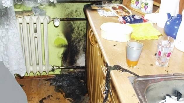 Požár v kuchyni vznikl nešťastnou náhodou.