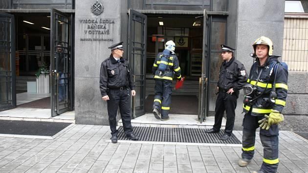 Požár ve Vysoké škole báňské v Ostravě