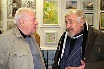 Nerozluční kamarádi. Oto Cienciala (vlevo) a Bohumil Kubíček.