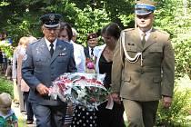 Vzpomínková akce u památníku letců Franciszka Żwirki a Stanisława Wigury na místě zvaném Źwirkowisko