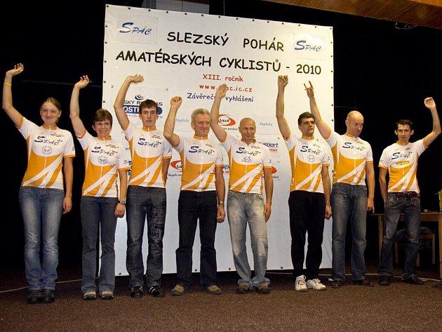 Vítězové 13. ročníku Slezského poháru amatérských cyklistů 2010 byli slavnostně vyhlášeni v sobotu v Žabni.