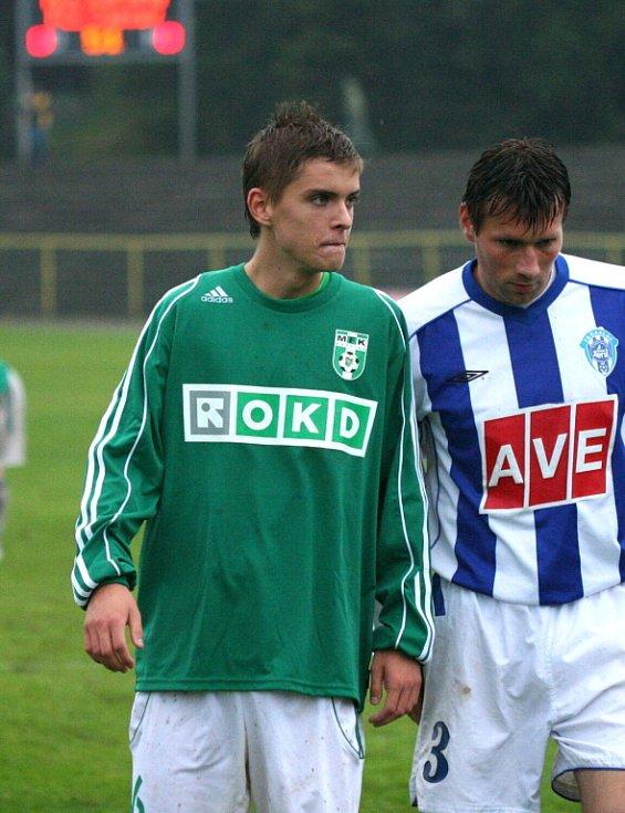 Mladík Jursa (vlevo) odehrál výborný zápas.