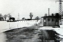 Těšínská ulice v Šenově začátkem roku 1939.