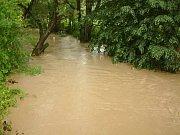 Zvýšená hladina řeky Lučiny