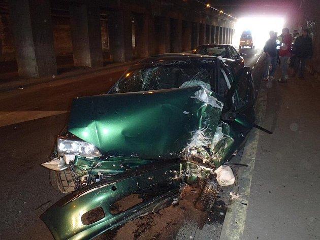 Nehoda v havířovském podjezdu pod železniční tratí