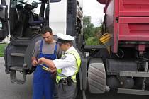 Kontrolní akce zaměřená na nákladní vozidla