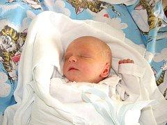 Jakub Tóth, se narodil 13. srpna v Havířově, váha: 2,54 kg, míra: 48 cm.