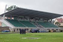 V areálu Městského stadionu v Karviné–Ráji pomalu končí rekonstrukce tribuny.