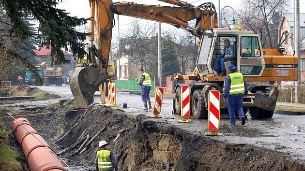Ilustrační foto z opravy kanalizace